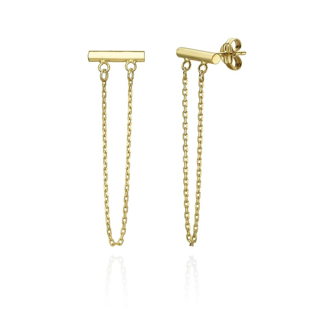 Drop And Dangle Earrings In 14k Yellow Gold Golden Reins Youme