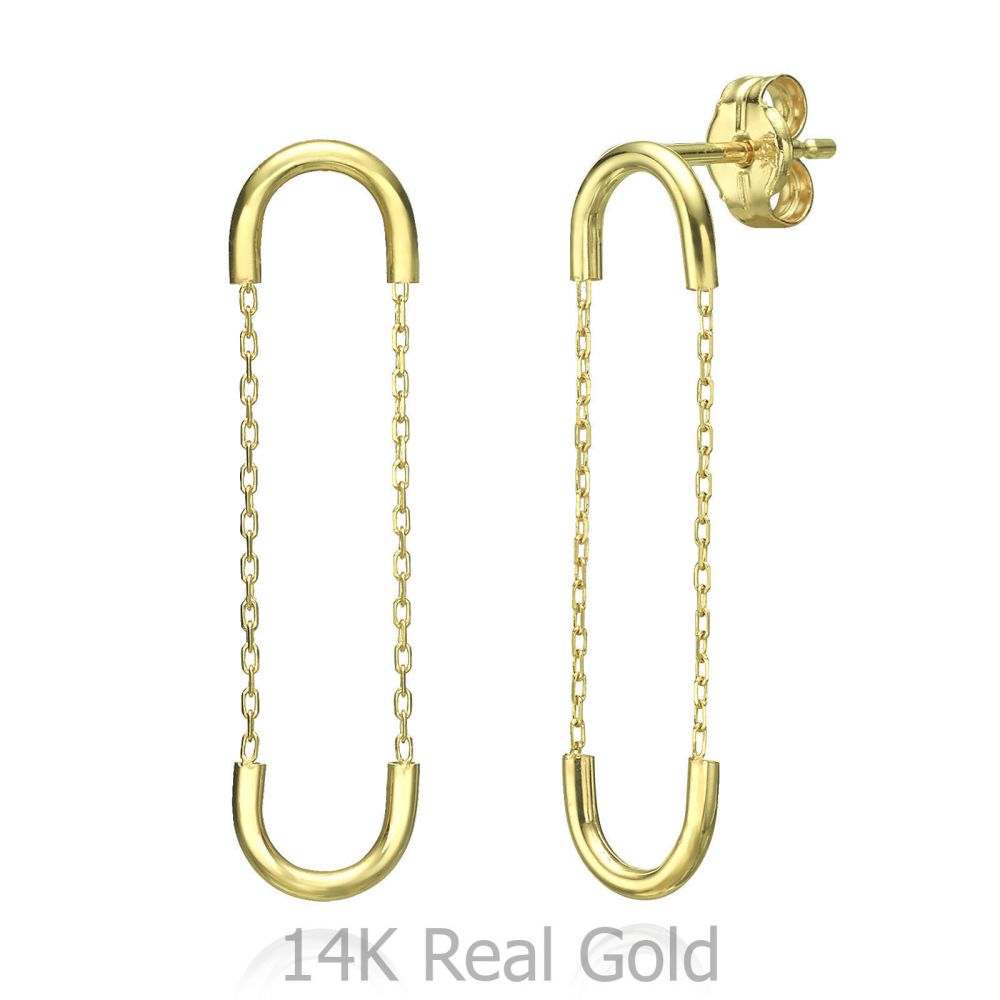 Women's Gold Jewelry | Drop and Dangle Earrings in 14K Yellow Gold - Expander