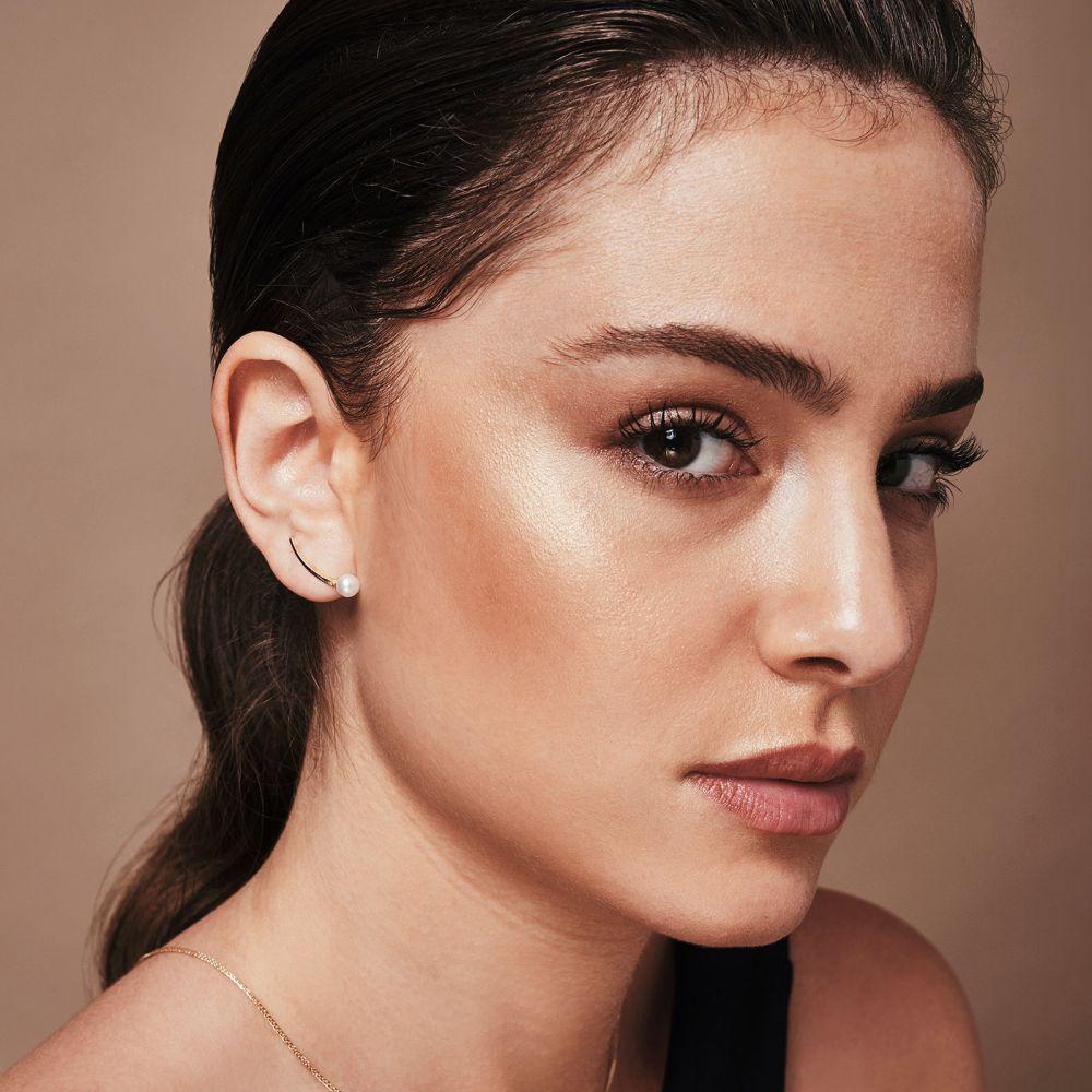 Women's Gold Jewelry | Climbing Earrings in 14K Yellow Gold - Eridanus