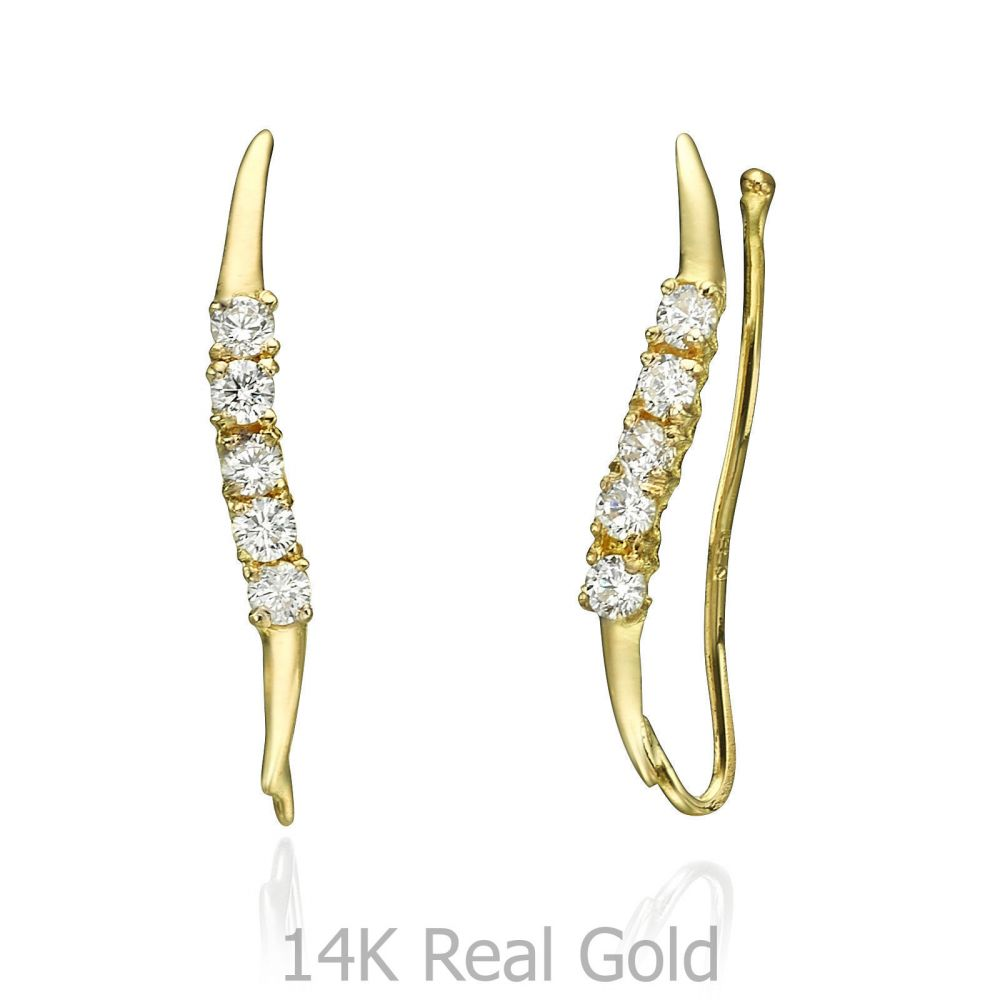 Women's Gold Jewelry   14K Yellow Gold Women's Earrings - Cepheus