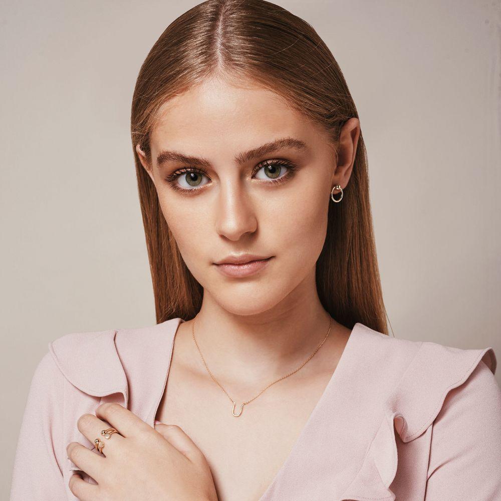Women's Gold Jewelry | Stud Earrings in 14K Yellow Gold - Upper Sphere