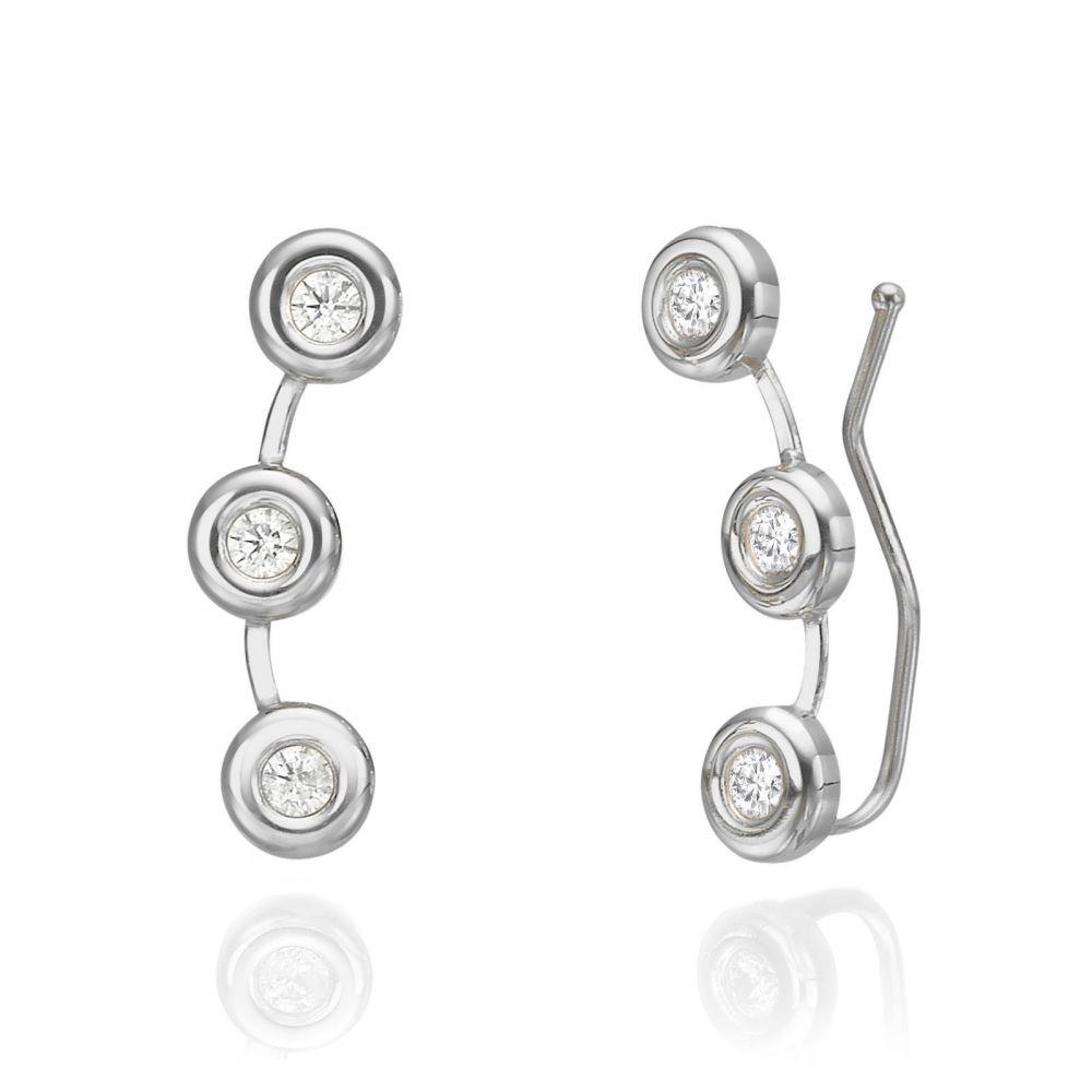 Women's Gold Jewelry | 14K White Gold Women's Earrings - Tucana