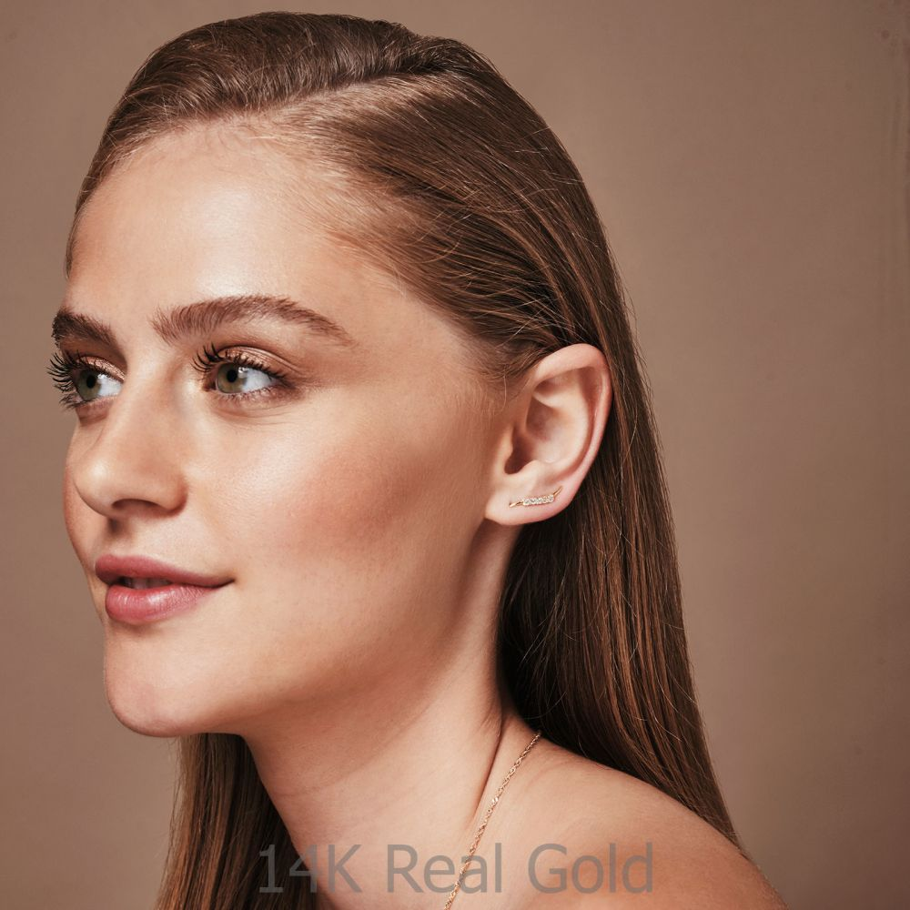 Women's Gold Jewelry | 14K White Gold Women's Earrings - Cepheus