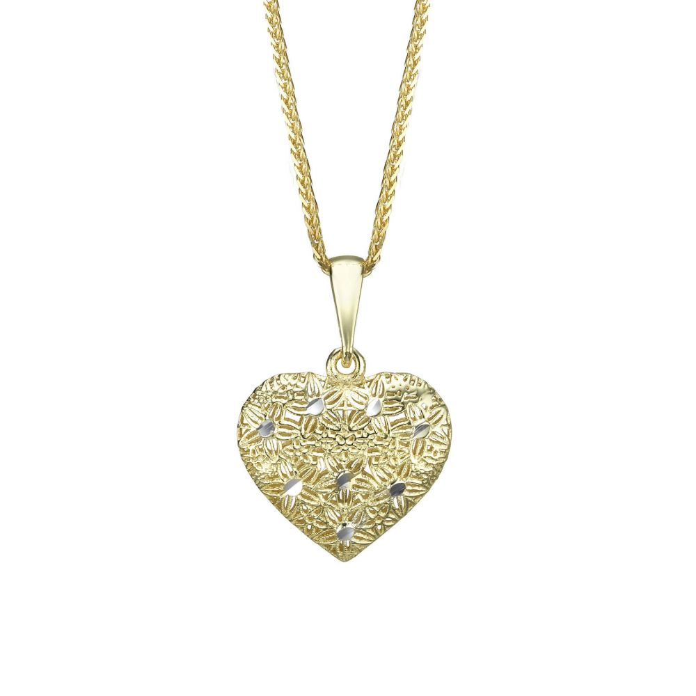 Women's Gold Jewelry | Gold Pendant - Embroidered Heart