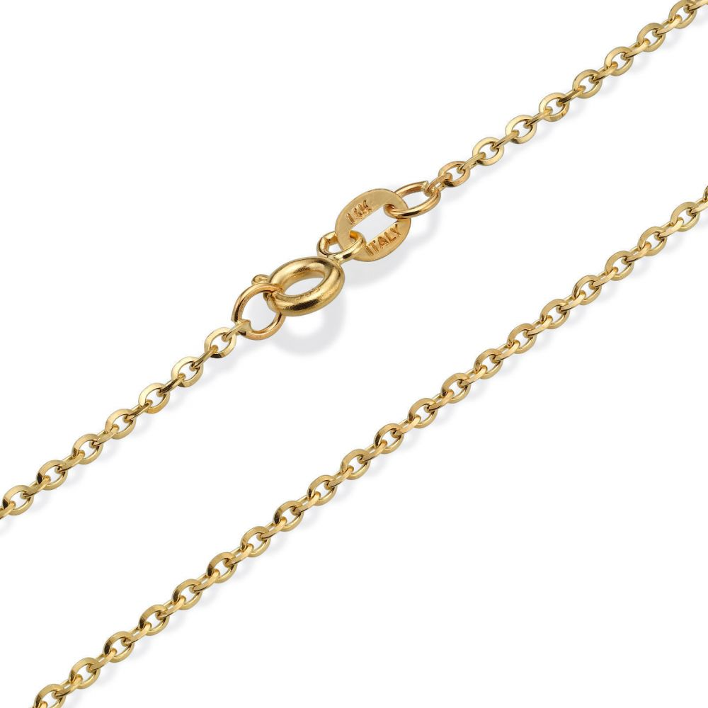 Gold Chains | 14K Yellow Gold Rollo Chain Necklace 1.6mm Thick, 16.5