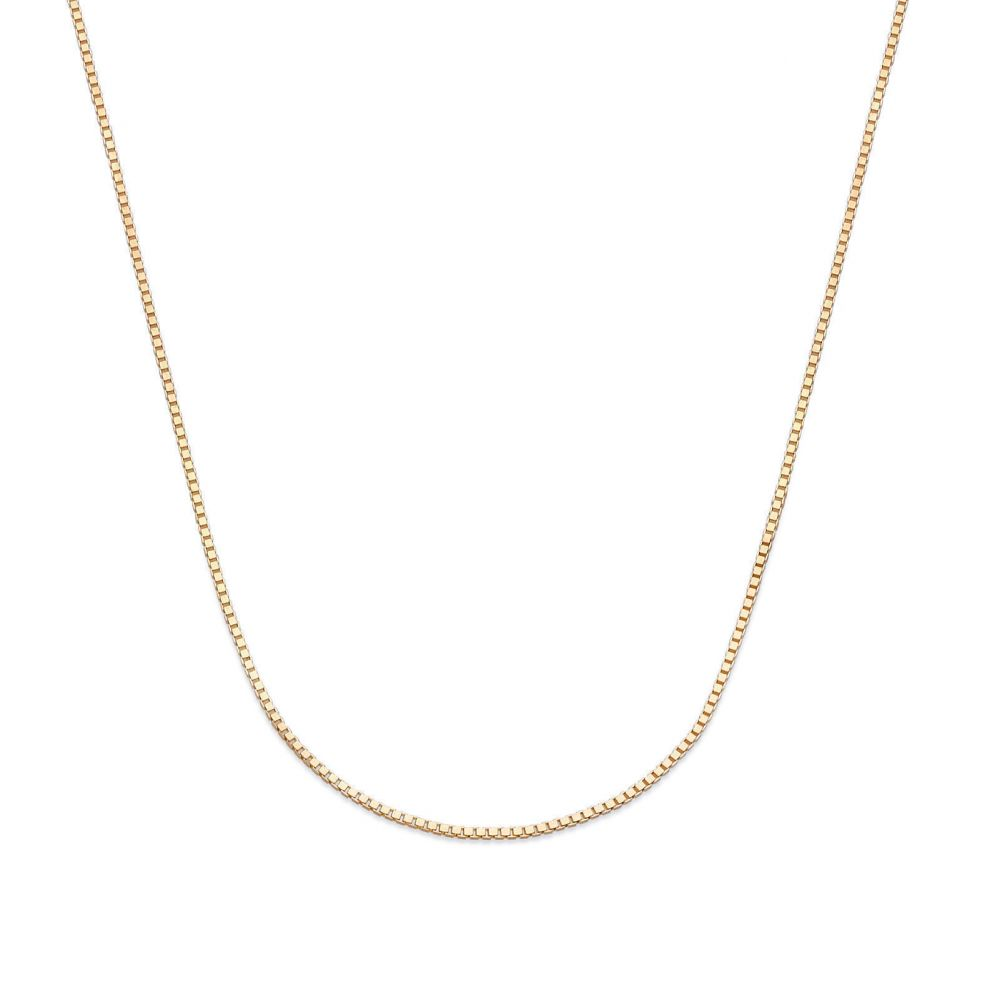 Gold Chains | 14K Yellow Gold Venice Chain Necklace 0.53mm Thick, 15.74