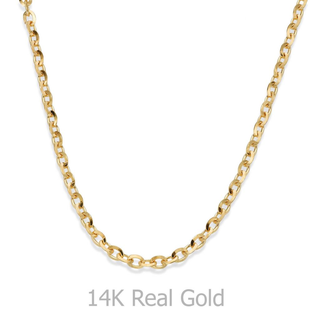Jewelry for Men | 14K Yellow Gold Chain for Men Rollo 2.2mm Thick, 21.45