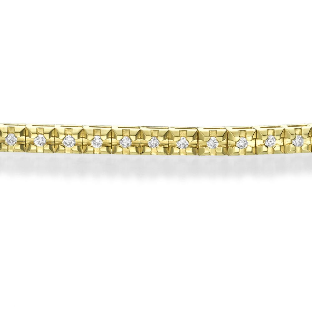 Diamond Jewelry | Diamond Tennis Bracelet in 14K Yellow Gold - Kate