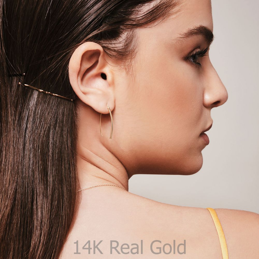 Women's Gold Jewelry | 14K Yellow Gold Women's Earrings - Golden Tubes
