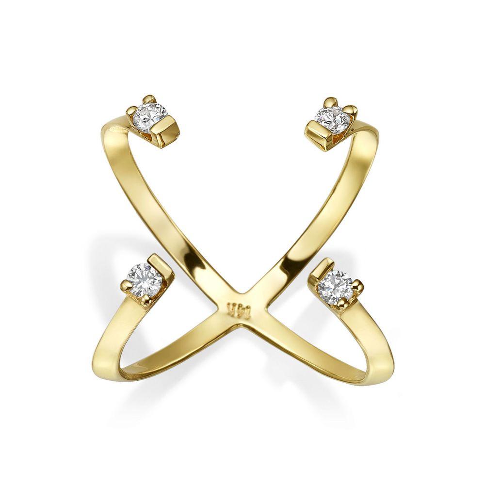 Diamond Jewelry | Diamond Ring in 14K Yellow Gold - Aurora