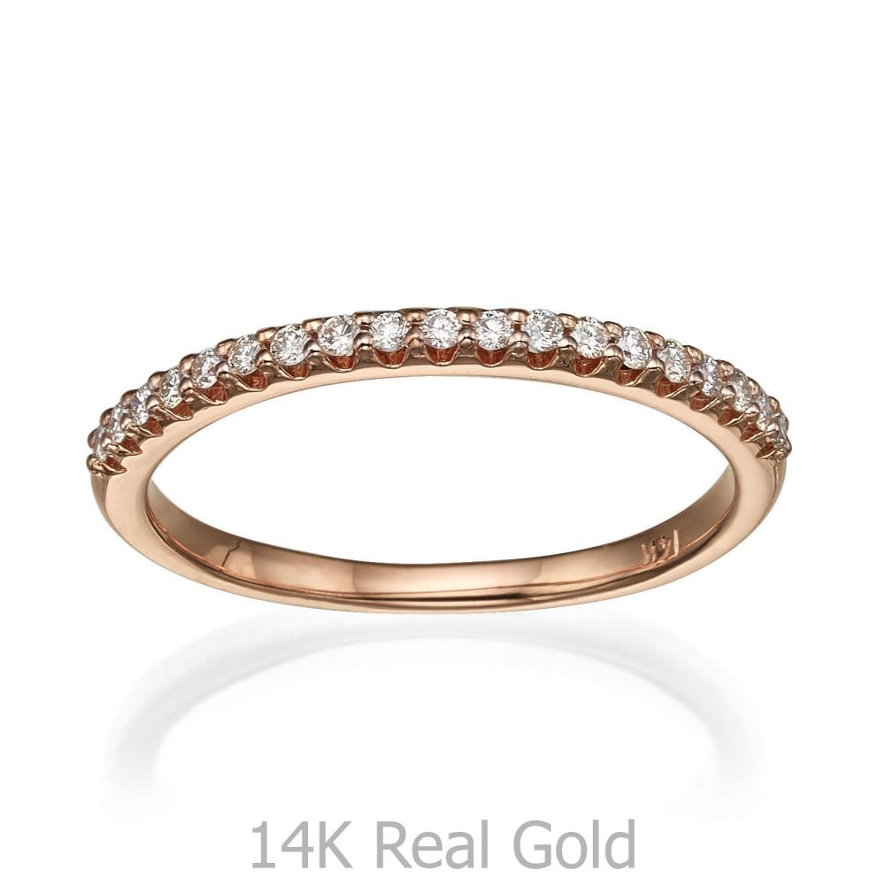 Diamond Jewelry | Diamond Band Ring in 14K Rose Gold - Princess of Summer