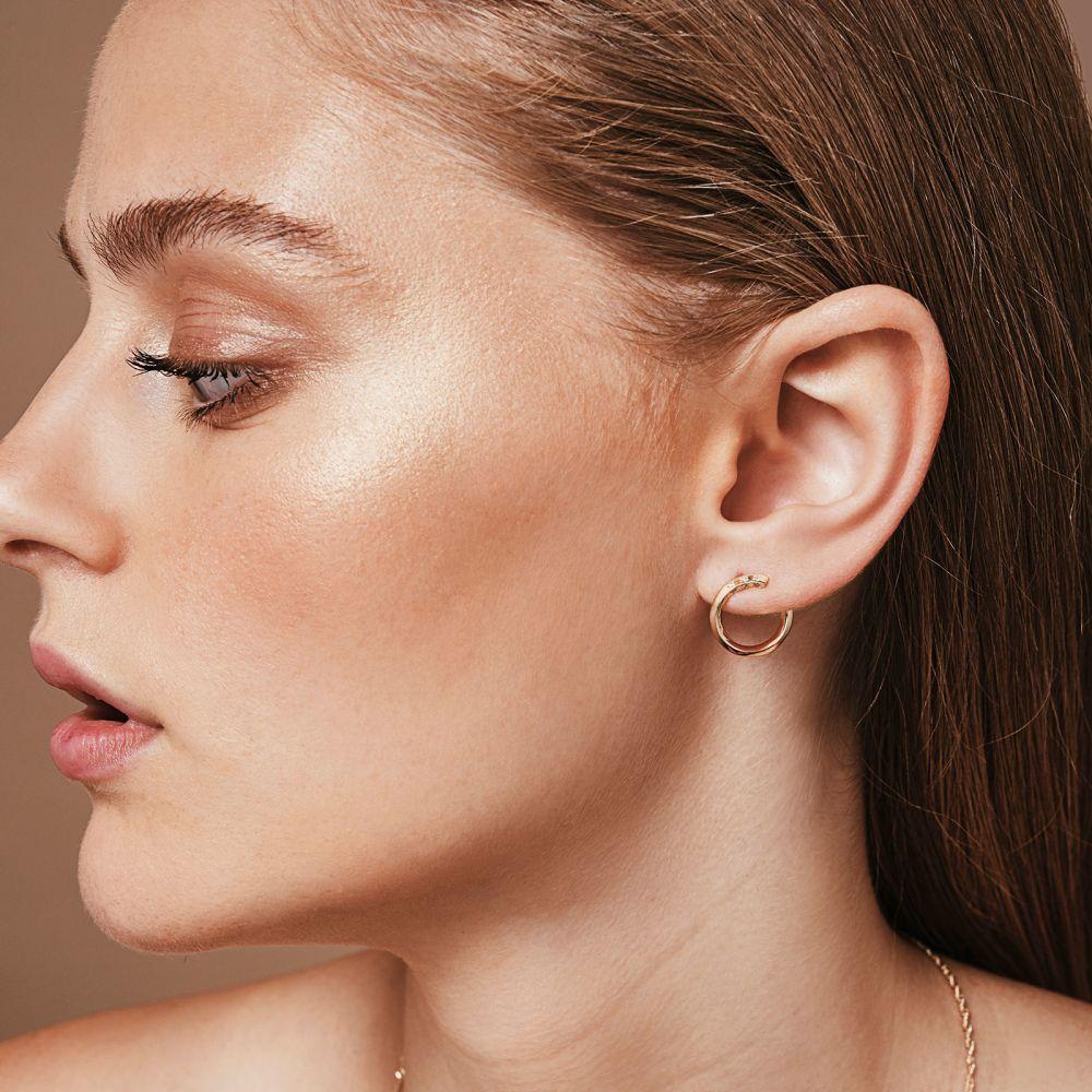 Diamond Jewelry | Diamond Stud Earrings in 14K Yellow Gold - Sunrise