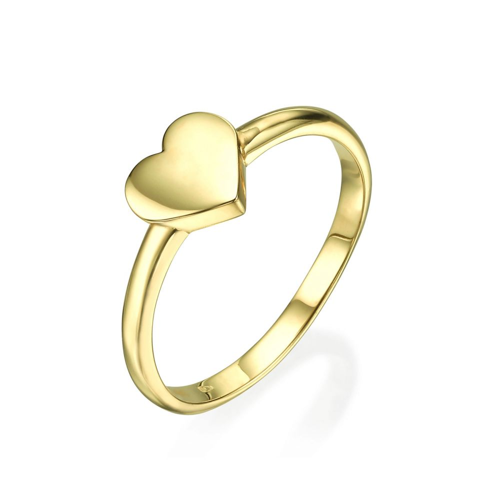 Women's Gold Jewelry | Ring in 14K Yellow Gold - Big Heart
