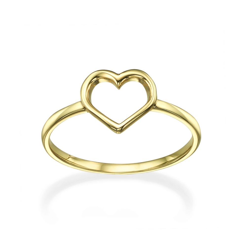 Women's Gold Jewelry | Ring in 14K Yellow Gold - Heart