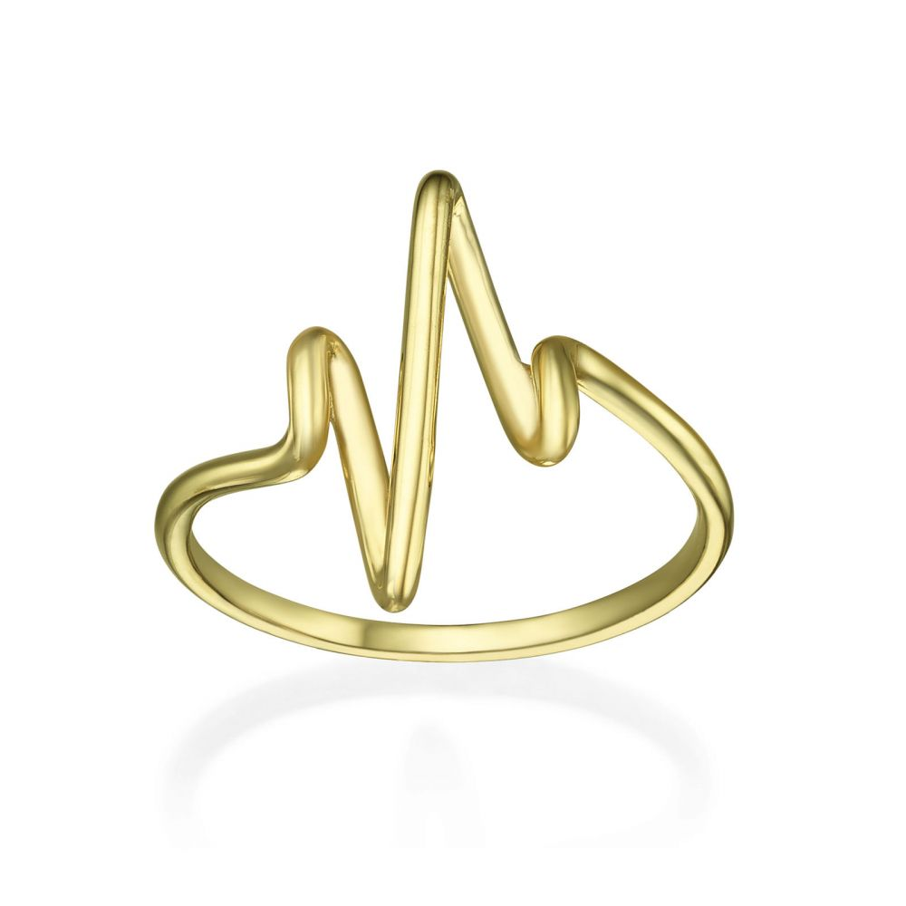 Women's Gold Jewelry | Ring in 14K Yellow Gold - Cardiogram