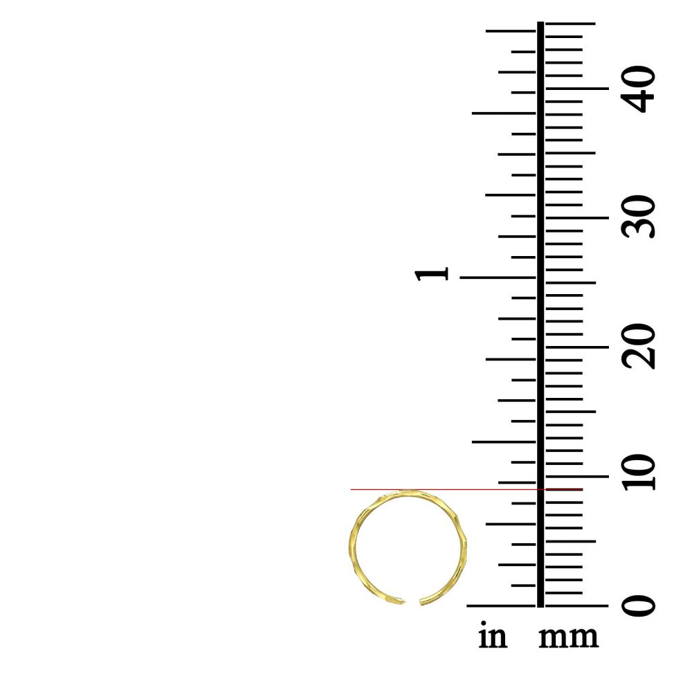 Piercing | Helix / Tragus Piercing in 14K Yellow Gold - Large