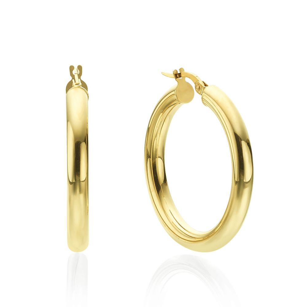 Women's Gold Jewelry | Hoop Earrings in 14K Yellow Gold - L