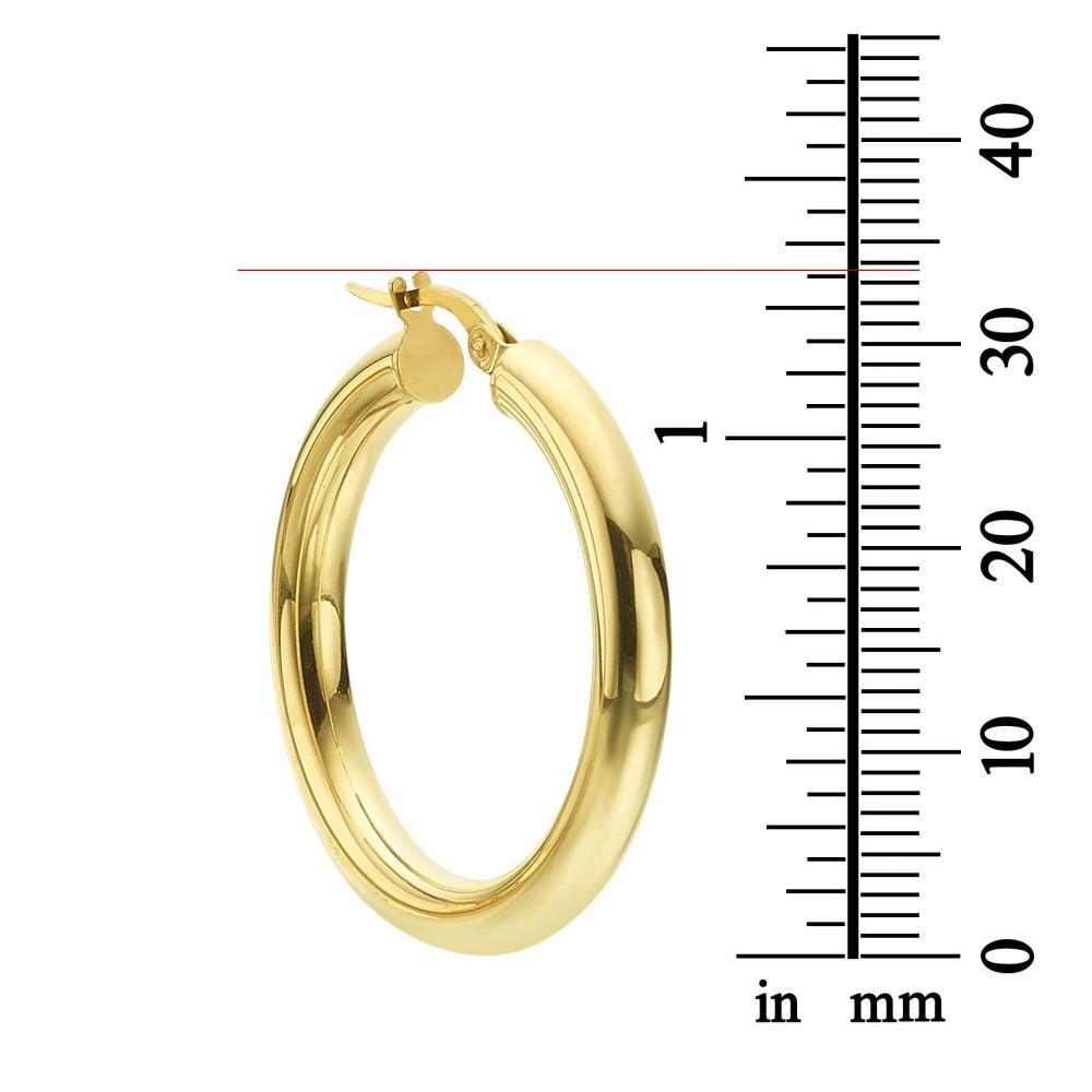 Women's Gold Jewelry | Hoop Earrings in 14K White Gold - L