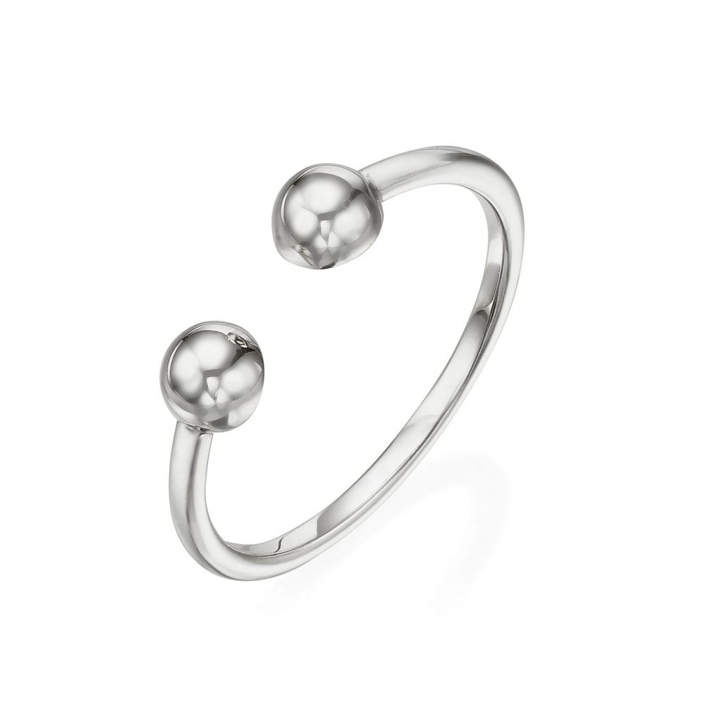 Women's Gold Jewelry   14K White Gold Rings - Golden Circles