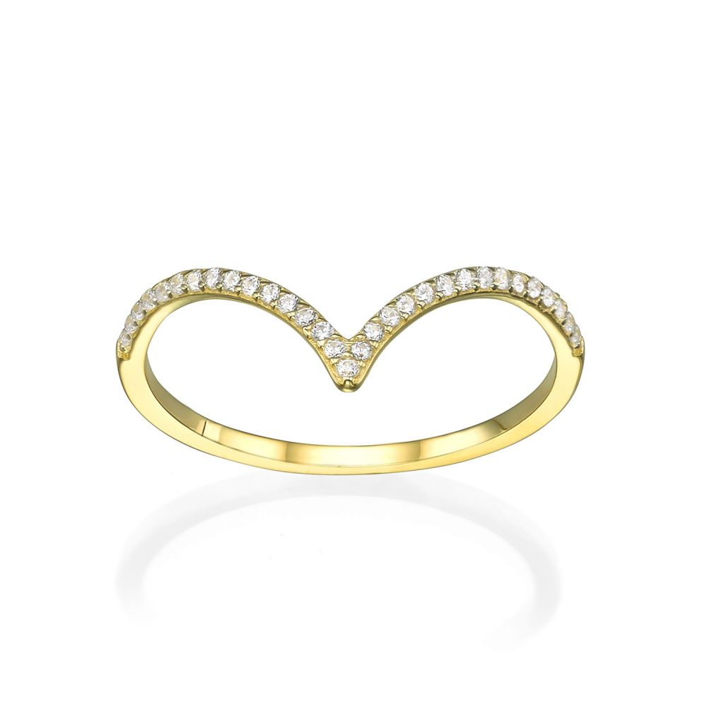 Women's Gold Jewelry | Ring in 14K Yellow Gold - Big V