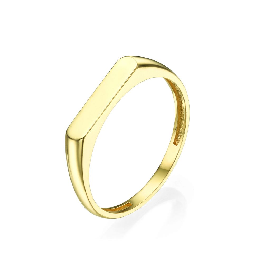 Women's Gold Jewelry | Ring in 14K Yellow Gold - Signet