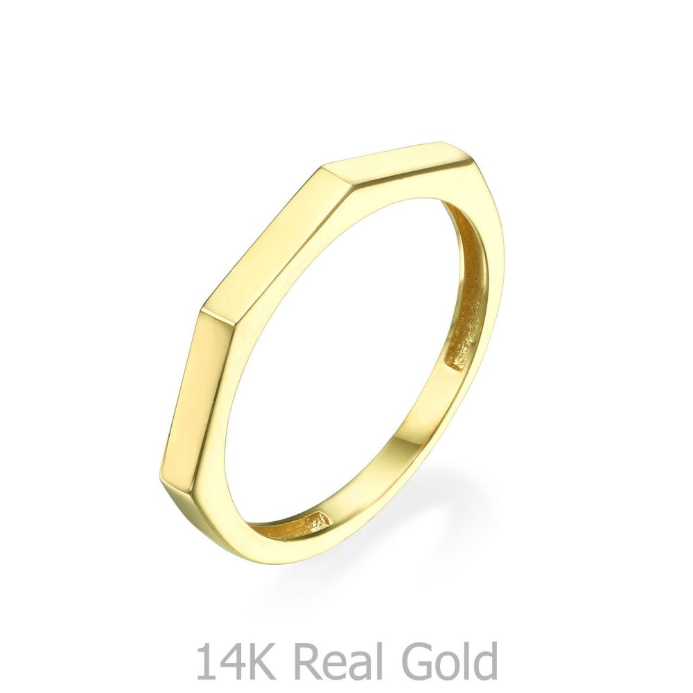 Women's Gold Jewelry   Ring in 14K Yellow Gold - Geometric