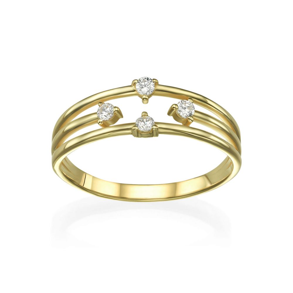 Women's Gold Jewelry   Ring in 14K Yellow Gold - Elements