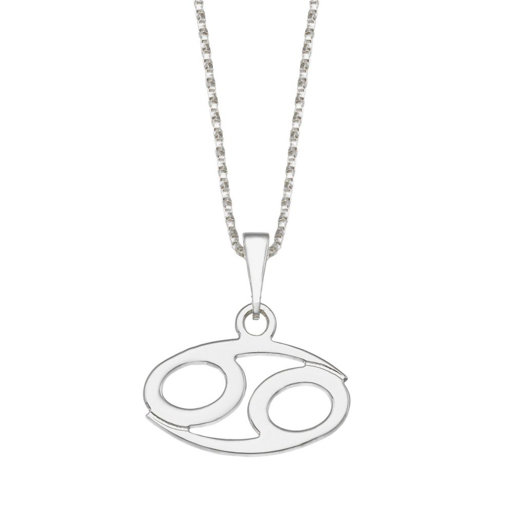 Girl's Jewelry | Pendant and Necklace in 925 Sterling Silver - Cancer
