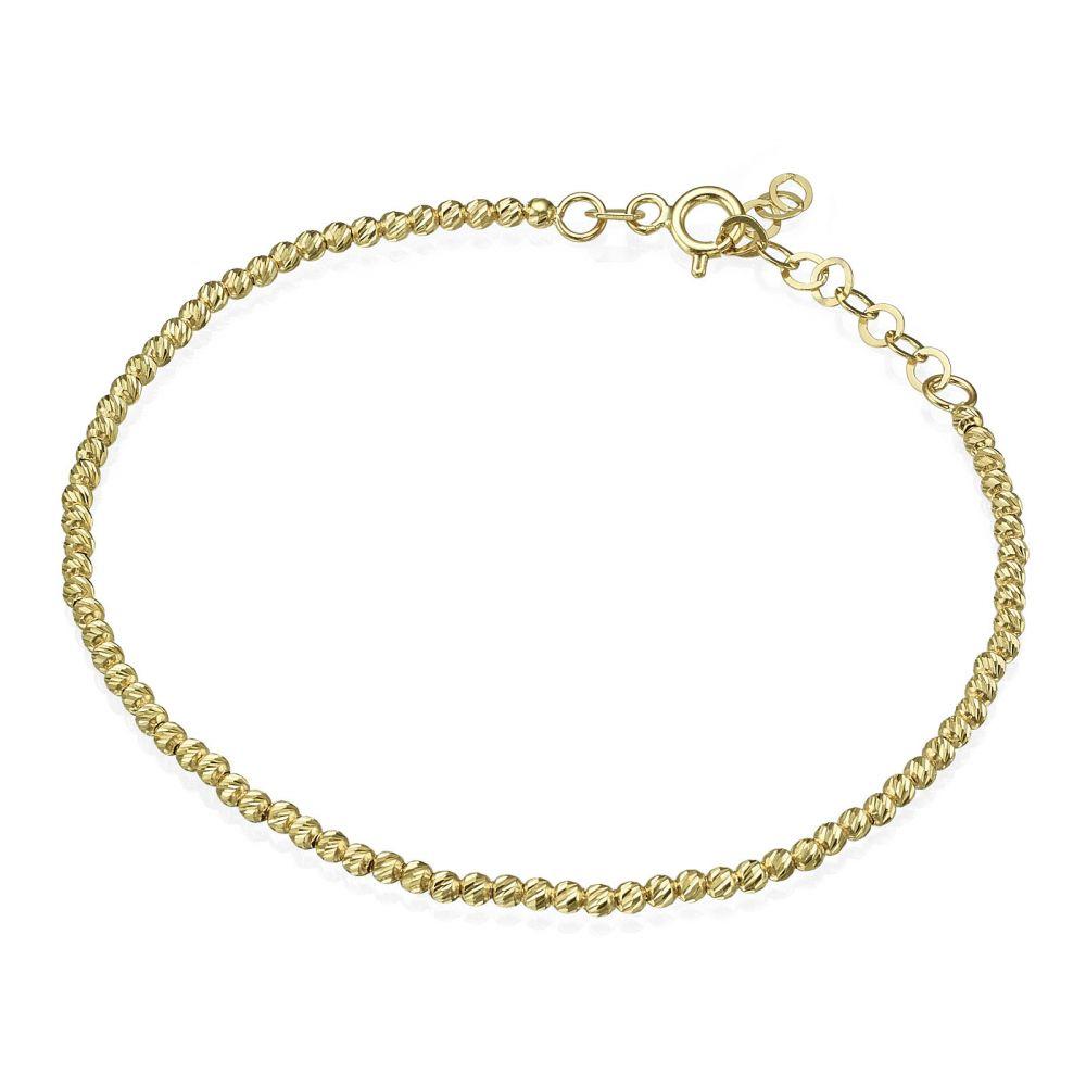 Women's Gold Jewelry | Women's Bracelet in 14K Yellow Gold - Balls