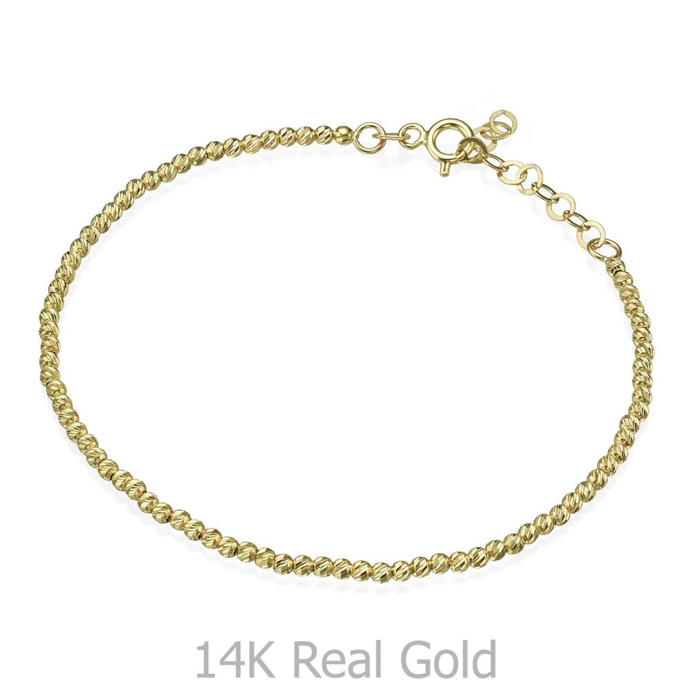 Women's Gold Jewelry | 14K Yellow Gold Women's Bracelets - Balls