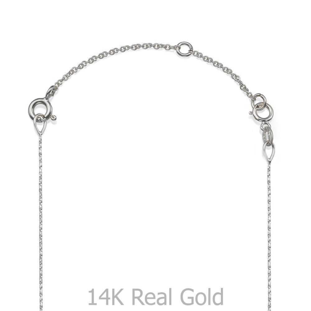 Gold Chains | 14K White Gold Extension Chain - 5cm (1.96 inch)