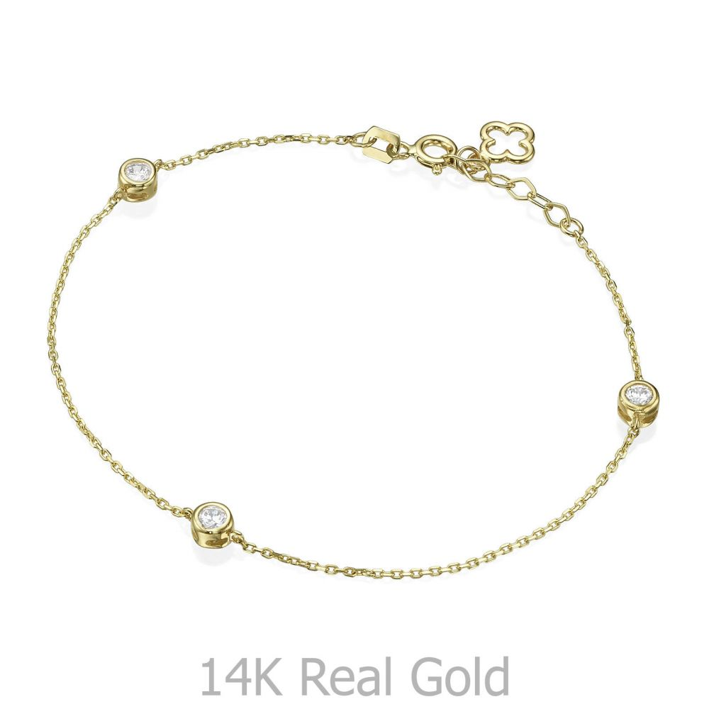 14K Yellow Gold Women's Bracelets - Dominic. youme offers a range of 14K  gold jewelry for babies, kids, girls and women at attractive prices. Free  worldwide shipping. Order online>>