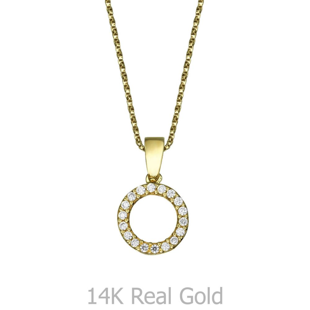 Girl's Jewelry | Pendant and Necklace in Yellow Gold - Circles of Joy