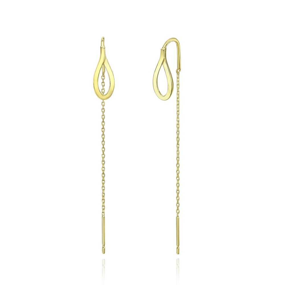 Women's Gold Jewelry | 14K Yellow Gold Dangle Earrings - Drop