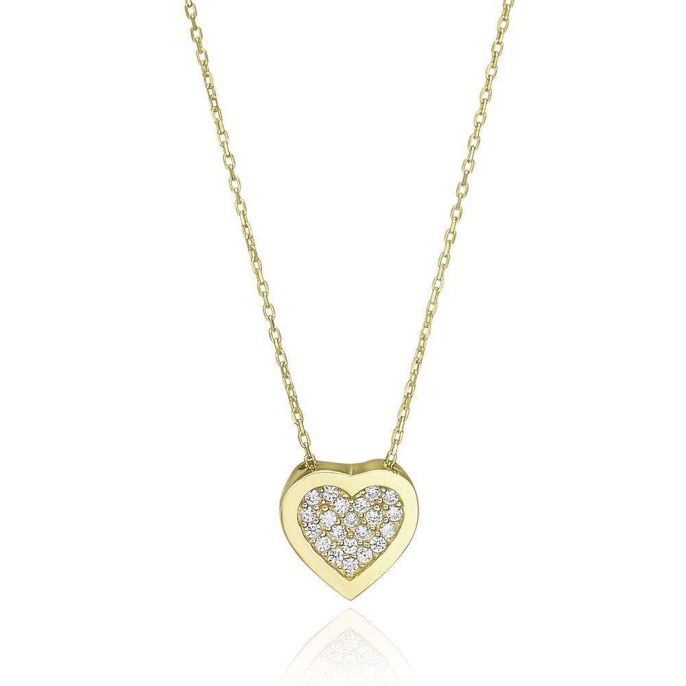 Women's Gold Jewelry   14k yellow gold women's pandants - Harmony Heart