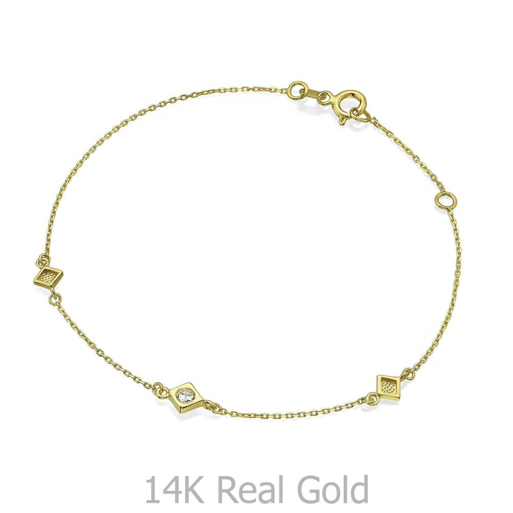Women's Gold Jewelry | 14K Yellow Gold Women's Bracelets - Blanca