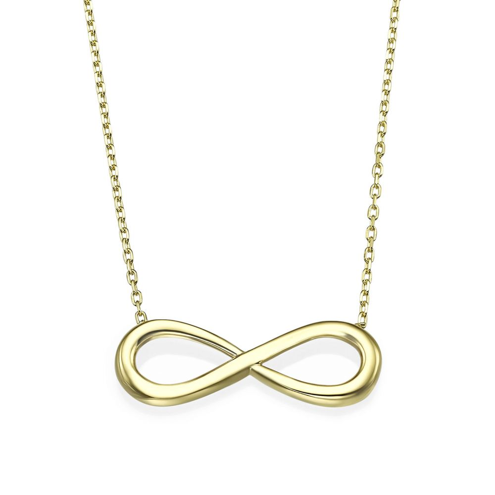 Women's Gold Jewelry | 14k Yellow gold women's pandants - Infinity
