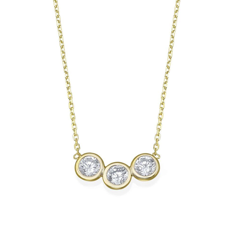 Women's Gold Jewelry | 14k Yellow gold women's pandants - Arbel