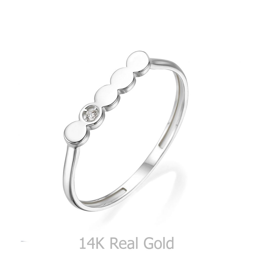 Women's Gold Jewelry | 14K White Gold Rings - Nicole