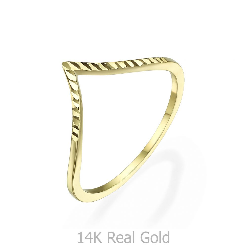 Women's Gold Jewelry | 14K Yellow Gold Rings - Diamond Engraving