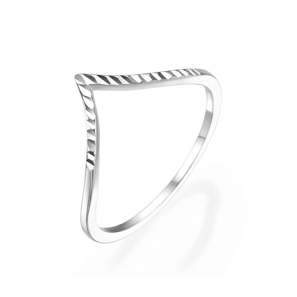 Women's Gold Jewelry | 14K White Gold Rings - Diamond Engraving