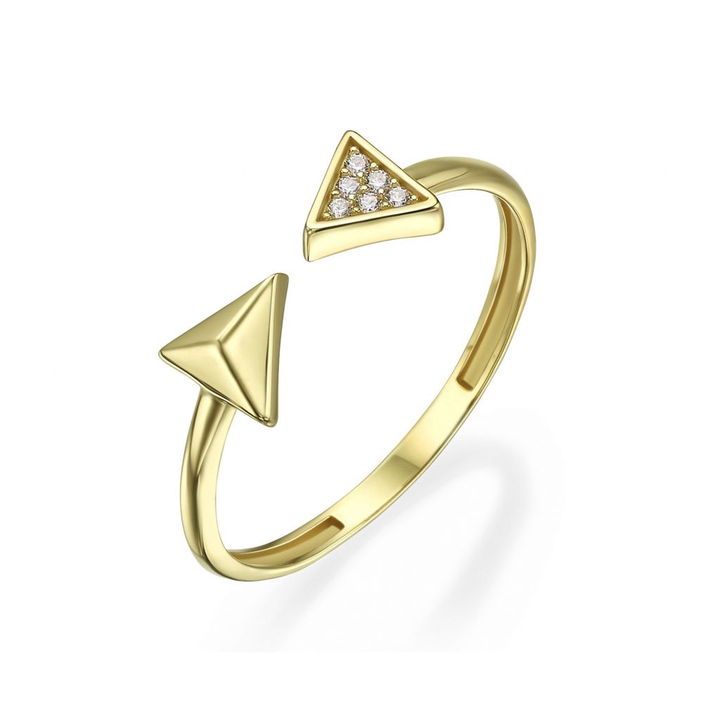 Women's Gold Jewelry | 14K Yellow Gold Rings - Arrows