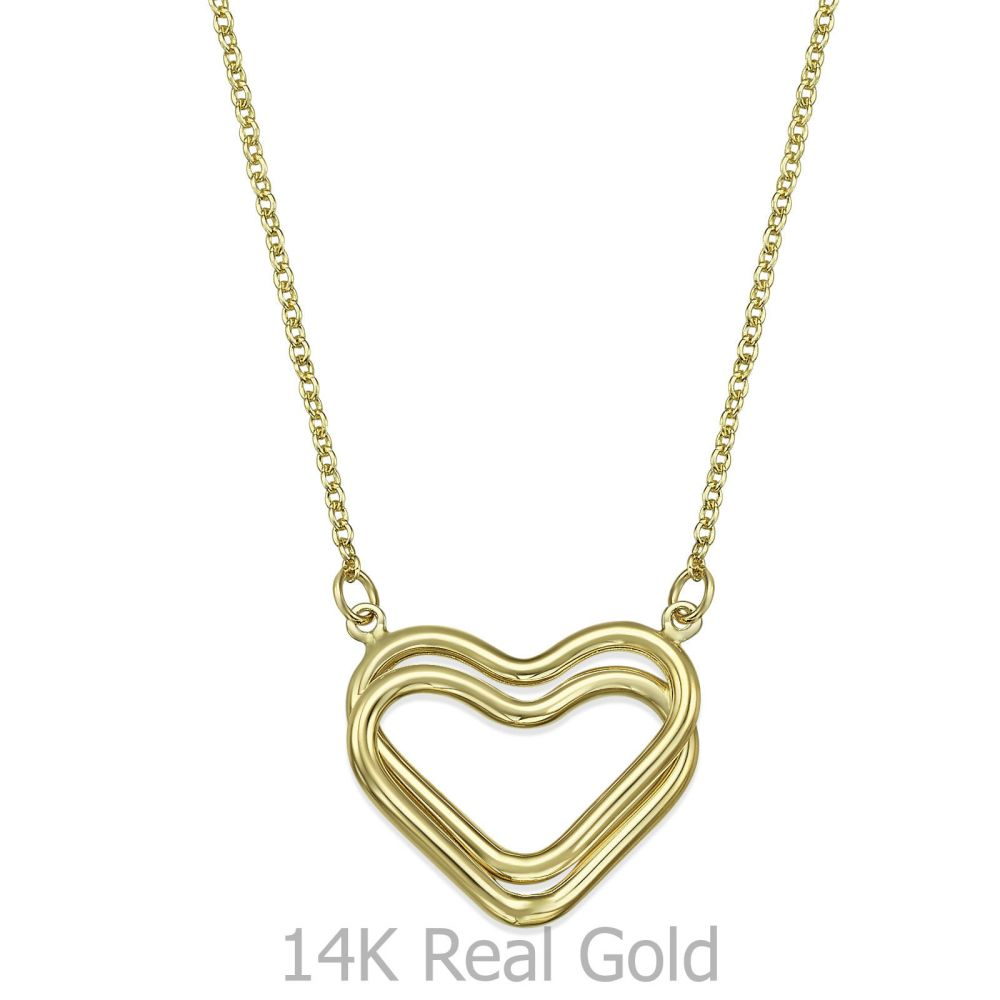 Women's Gold Jewelry | 14k Yellow gold women's pandants - Heart of Liana