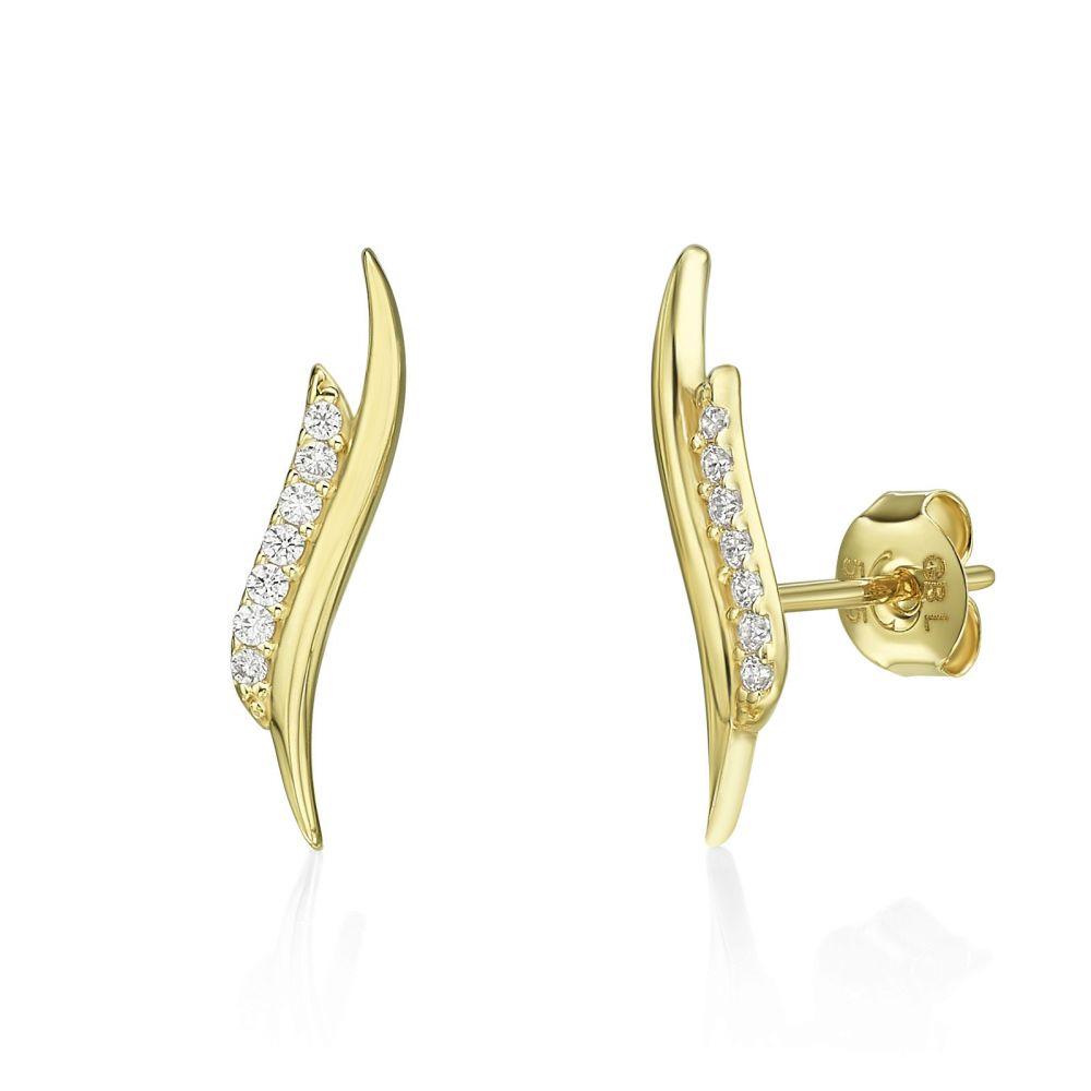 Gold Earrings | 14K Yellow Gold Women's Earrings - Seychelles