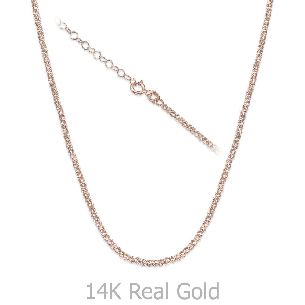 Gold Chains | 14K Rose Gold Balls Necklace - Balls of Joy