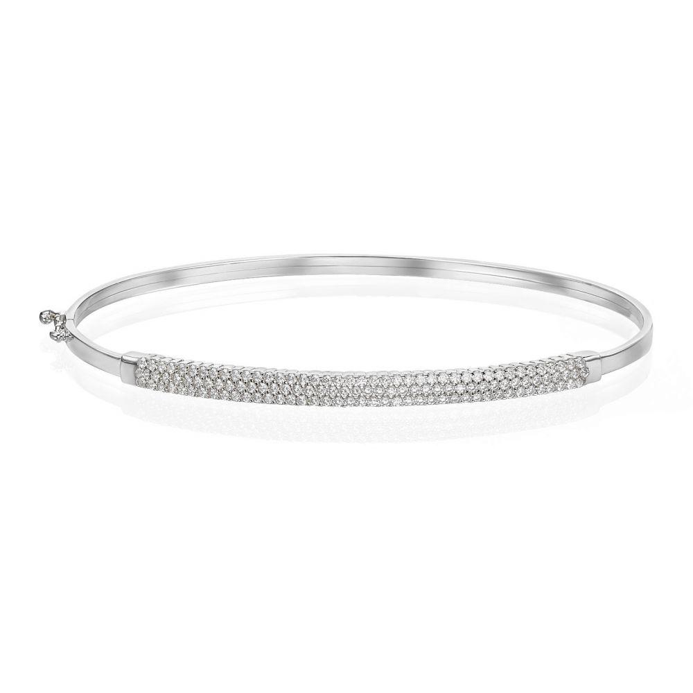 Women's Gold Jewelry   14K White Gold Women's Bracelets - Amsterdam