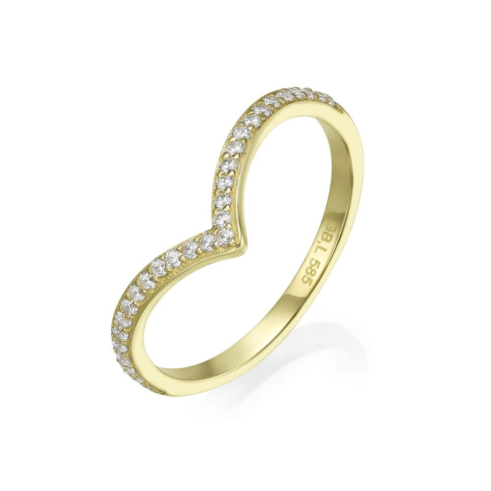 gold rings | 14K Yellow Gold Rings - Leia