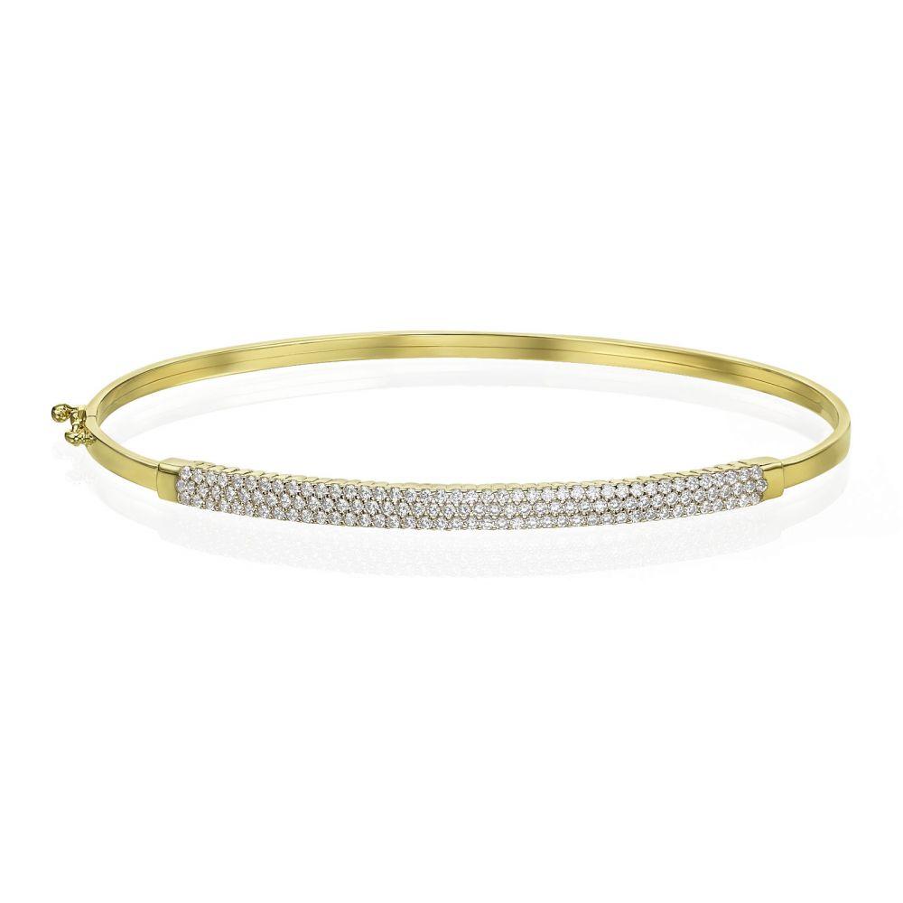 Women's Gold Jewelry   14K Yellow  Gold Women's Bracelets - Amsterdam