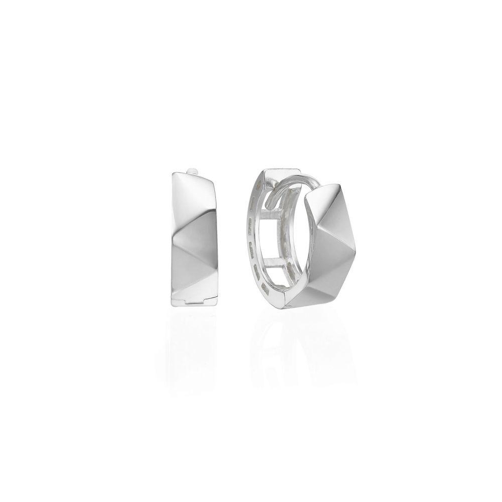 Gold Earrings | 14K White Gold Women's Earrings - Paris