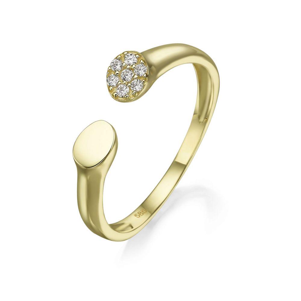 Women's Gold Jewelry | 14K Yellow Gold Open Ring - Celine